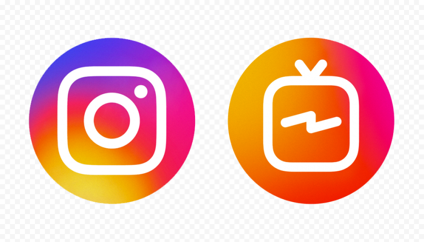 Instagram And IG TV Round Logos