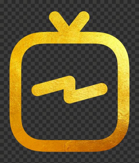 Golden Gold IGTV Instagram Tv Logo Icon