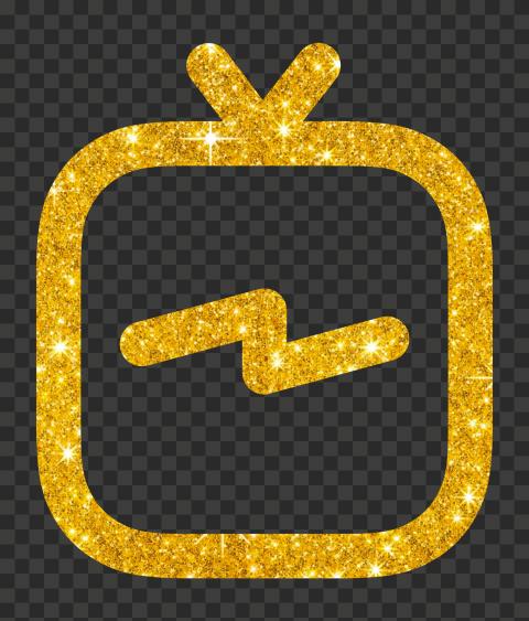 Golden Glitter IGTV Instagram Tv Logo Icon