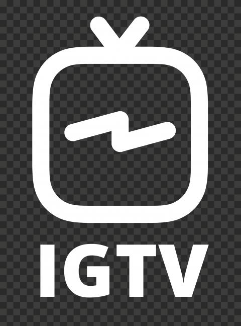 White IGTV Text With Logo Instagram Tv Icon