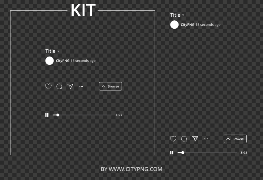 IGTV Player Kit Mockup Instagram