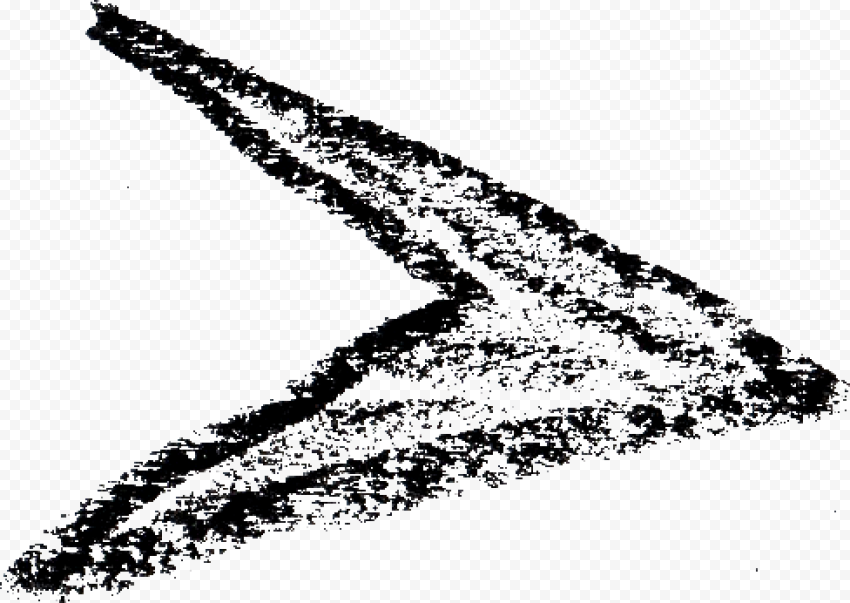 Chalk Black Sketch Arrow Head Pointing Right