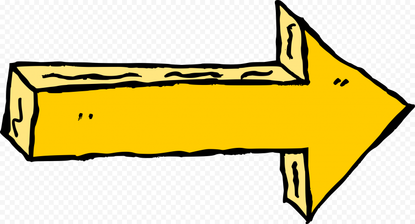 Arrow Comic Style Yellow Color Point Right