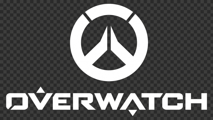 White Overwatch Logo 1920x1080