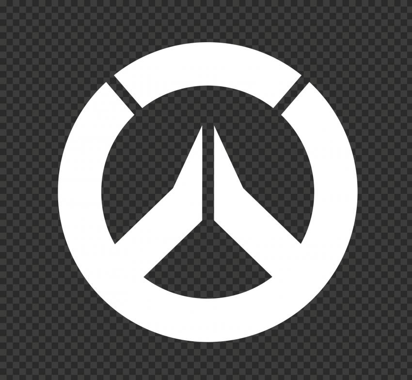 White Round Overwatch Logo Symbol