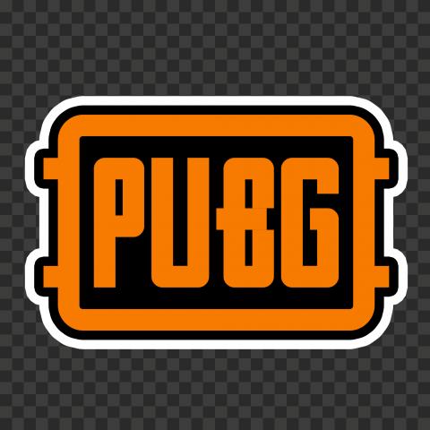 Orange PUBG Logo Stickers