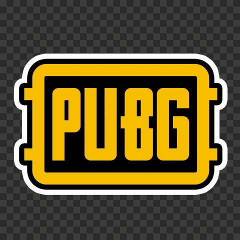 Yellow PUBG Logo Stickers