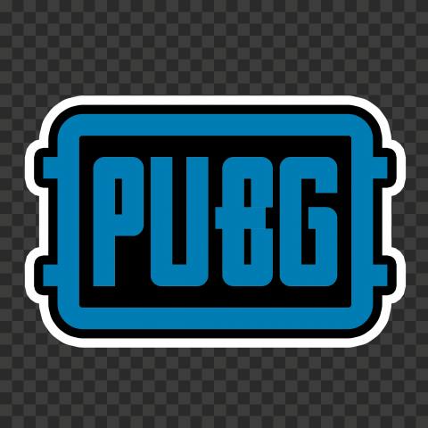 Blue PUBG Logo Stickers