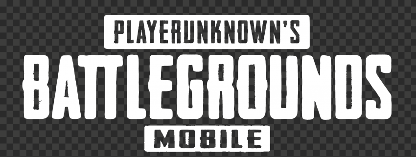 HD Player Unknown Battlegrounds White Mobile Logo
