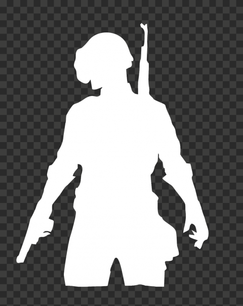 PUBG White Silhouette Player Soldier With Helmet