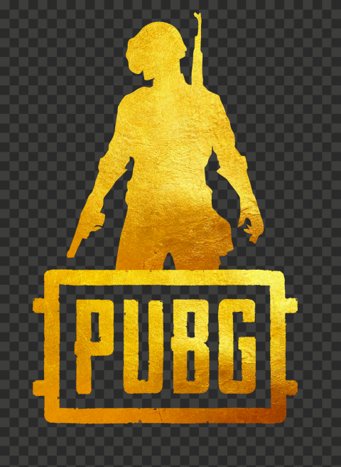 PUBG Gold Silhouette Soldier With Helmet Logo