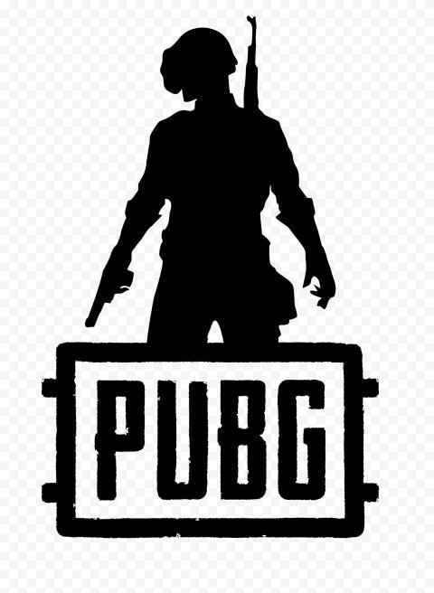 PUBG Black Silhouette Soldier With Helmet Logo