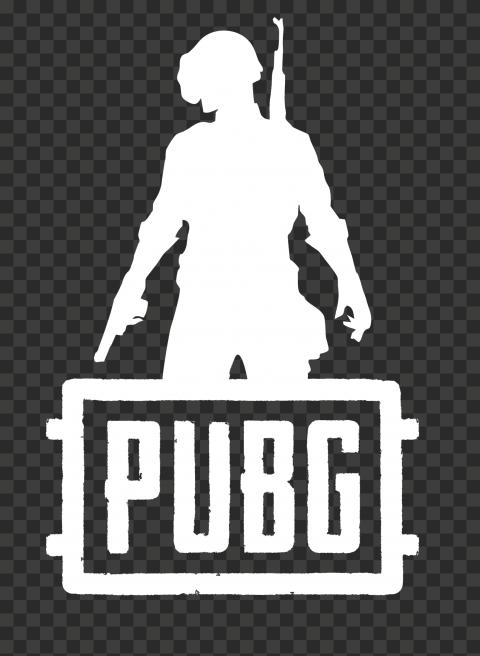 PUBG White Silhouette Soldier With Helmet Logo