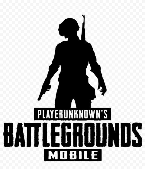 PUBG Mobile Battlegrounds Black Silhouette Logo