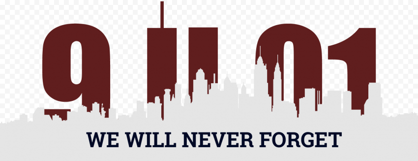 We Will Never Forget 11 September Illustration