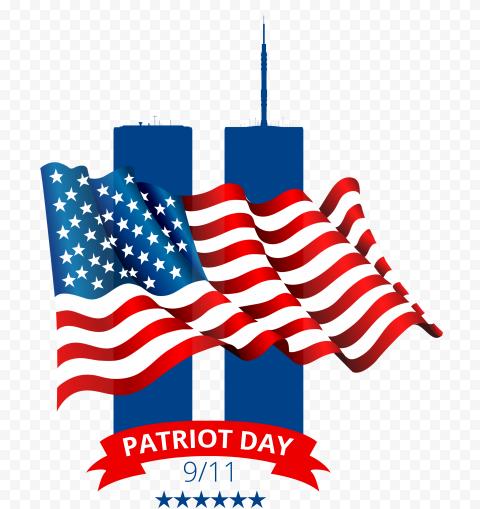 Patriot Day 11 September Logo Illustration