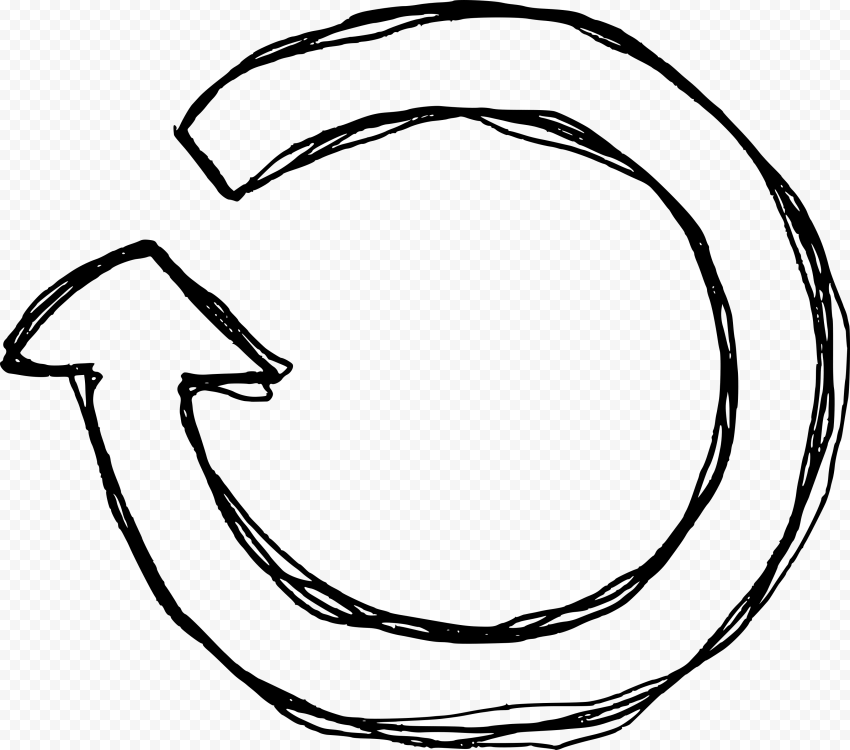 Drawing Sketch Outline Circular Arrow Refresh