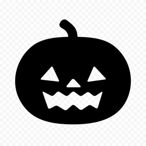 Black Halloween Jack O Lantern Pumpkin Silhouette