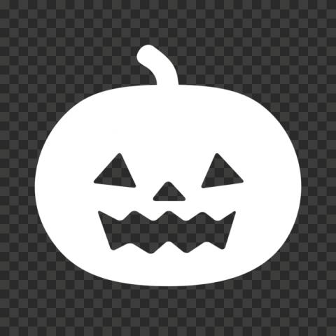 White Halloween Jack O Lantern Pumpkin Silhouette