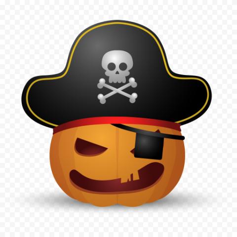 Halloween Emoji Jack O Lantern Pirate Costume
