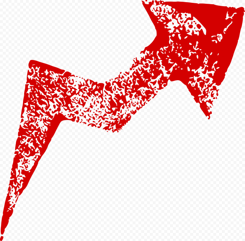 Red Arrow Market Stock Point Up Right Corner