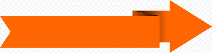 Orange Origami Vector Graphics Arrow Going Right
