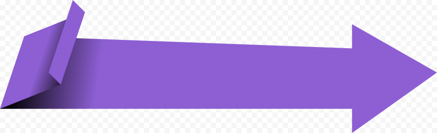 Purple Origami Vector Paper Arrow Going Right