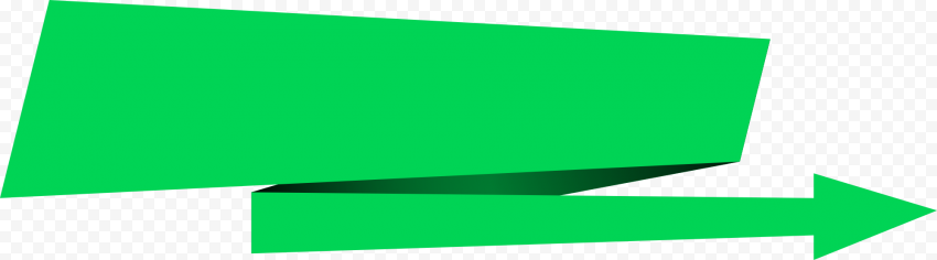 Green Origami Vector Paper Arrow Going Right