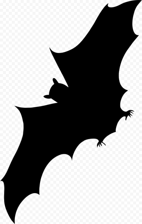 Black Vampire Bat Halloween Silhouette