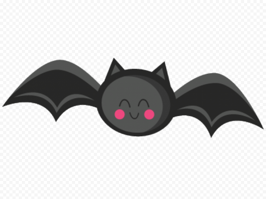 Cute Black Bat Clipart Cartoon