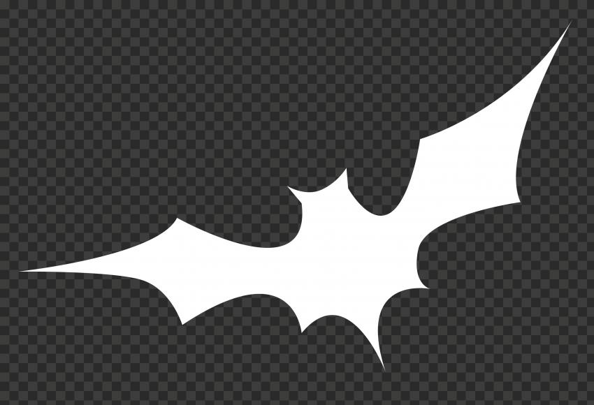 White Bat Silhouette
