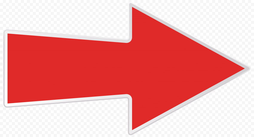 Vector Red Arrow White Border Right Direction