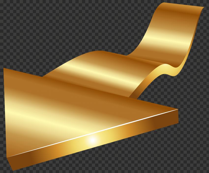 3D Golden Gold Arrow High Resolution