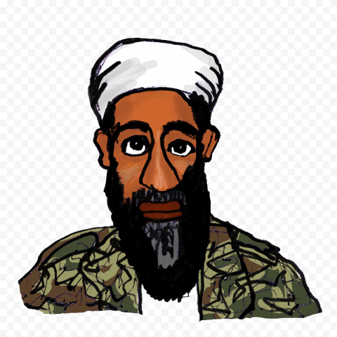 Osama Bin Laden Cartoon Clipart Drawing