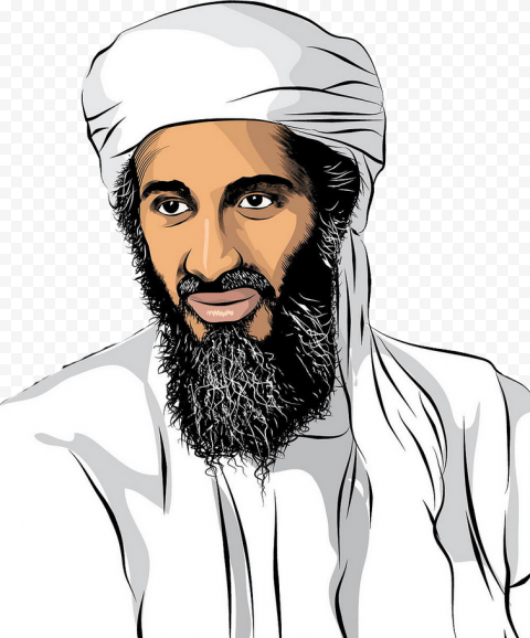 Osama Bin Laden Painting Drawing Clipart