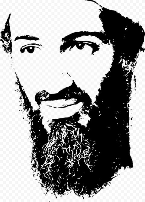 Osama Bin Laden Face Silhouette