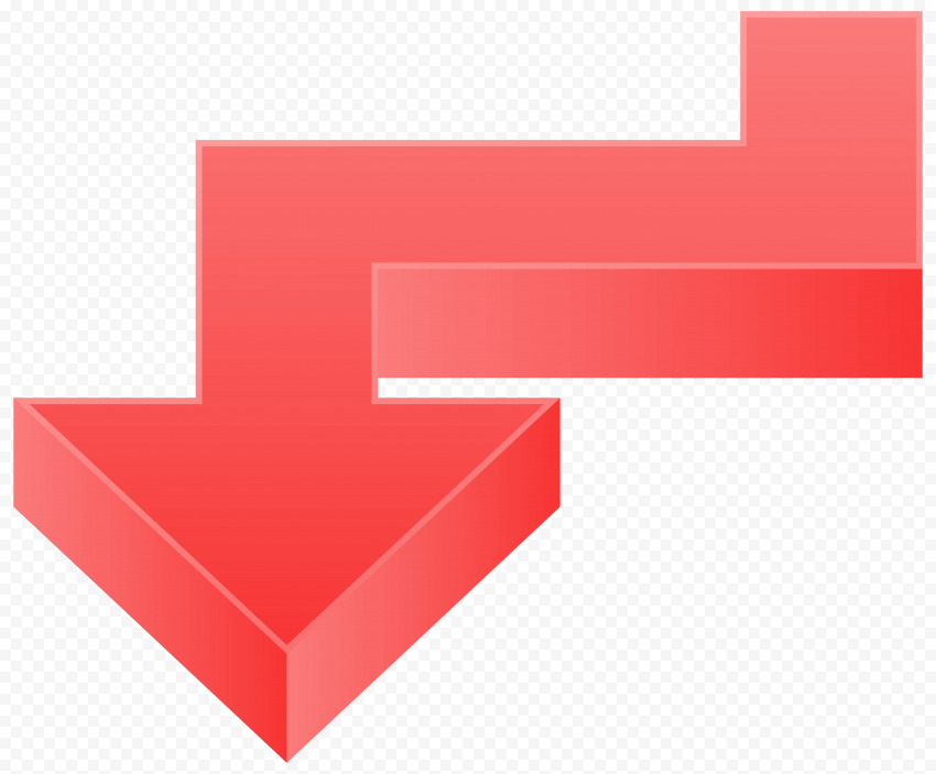 3D Red Graphic Illustrator Arrow Point Down