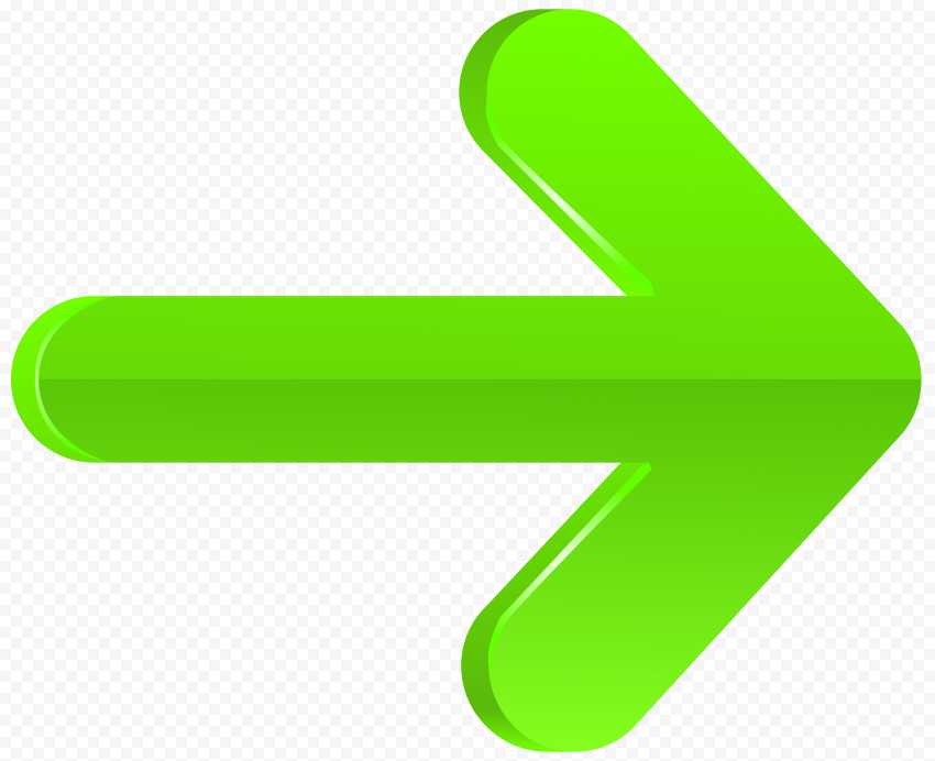 3D Green Illustrator Graphic Arrow Point Right