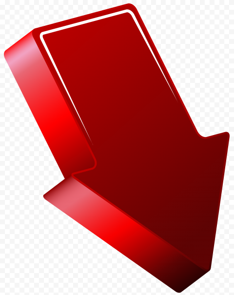 High Resolution Red 3D Arrow Point Down Right