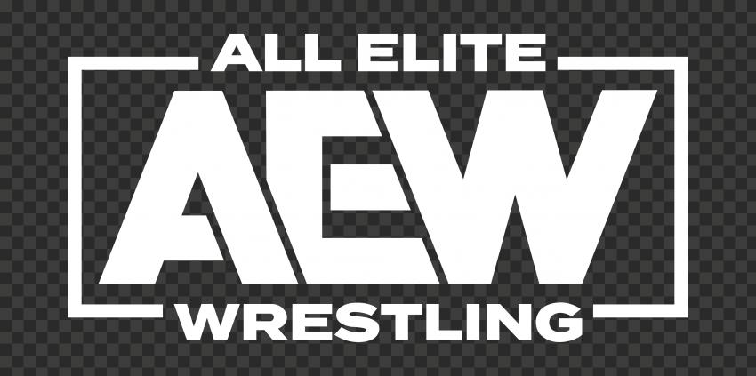 White AEW All Elite Wrestling Logo