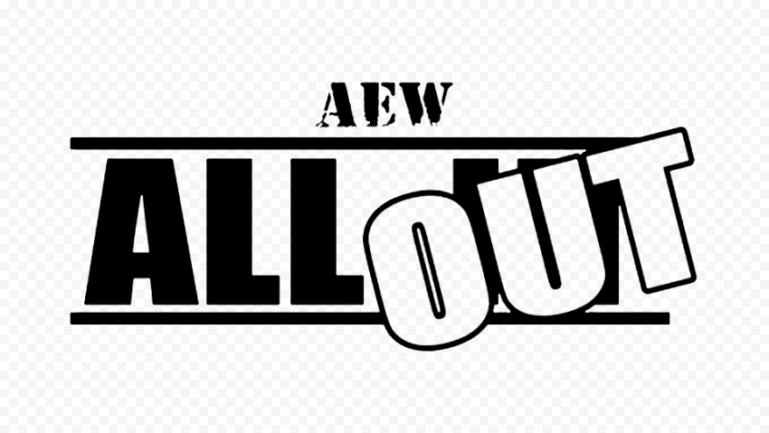 Black AEW All Out Logo