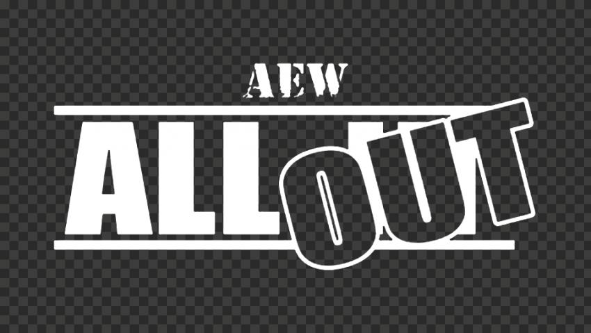 White AEW All Out Logo