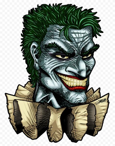 Joker Batman Hero Head Drawing Art Clipart