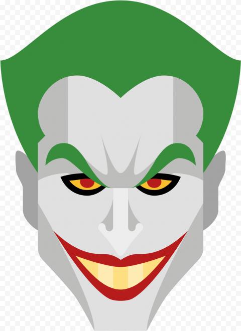 Batman Joker Face Vector Clipart