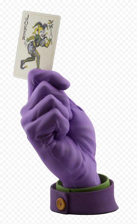 Realistic Joker Batman Hand Wear Gloves Hold Card