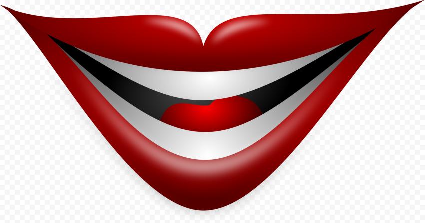 Joker Smile Lips Mouth Vector Illustration