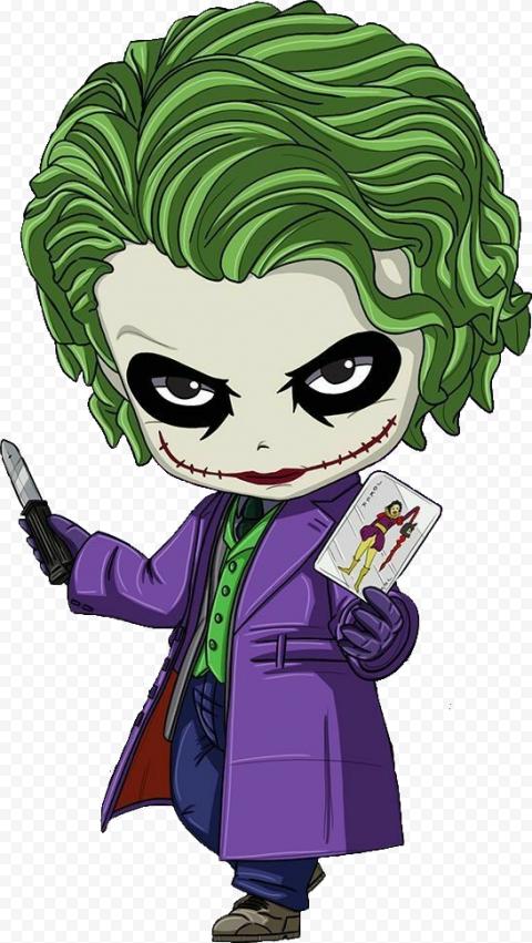 Clipart Joker Chibi Cartoon Illustration