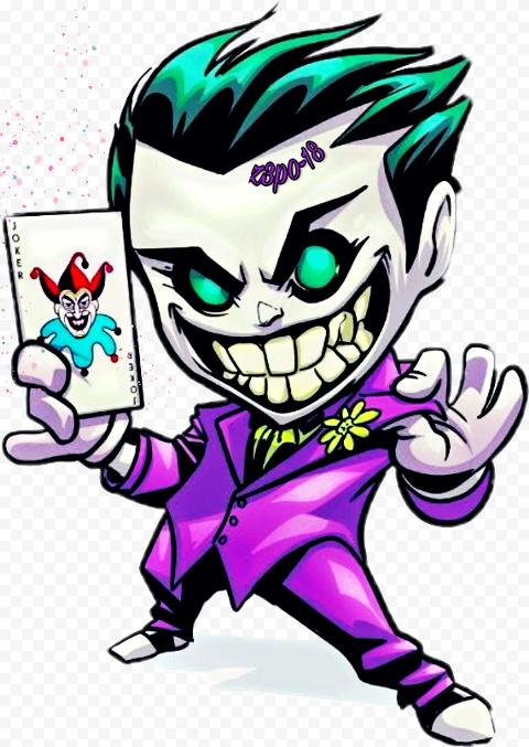 Clipart Crazy Joker Chibi Cartoon Illustration