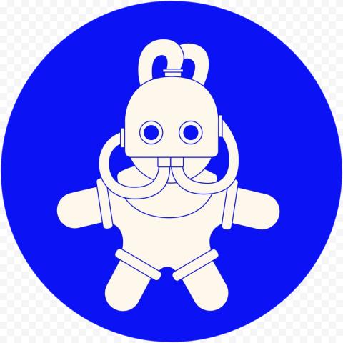 Round Mac Miller Swimming Logo