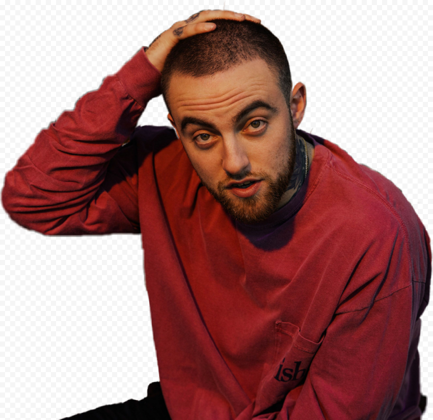 Mac Miller Wear Red Sweater